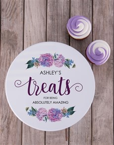 gifts: Personalised Floral Cookie Tin!