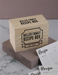 gifts: Personalised Family recipe box!