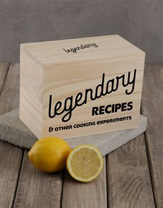 gifts: Personalised Legendary recipe box!