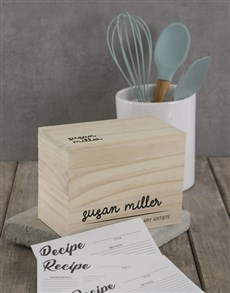 gifts: Personalised Culinary artiste recipe box!