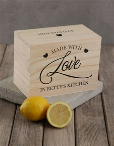 gifts: Personalised Made with love recipe box!
