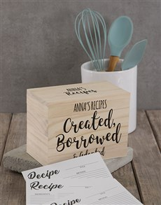 gifts: Personalised Twirly lettered recipe box !