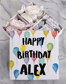 gifts: Personalised Happy Birthday Sally Williams Nougat!