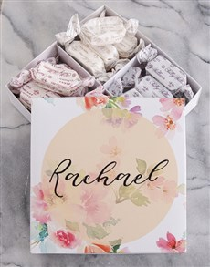 gifts: Personalised Floral Sally Williams Nougat Box!