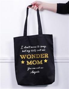 gifts: Personalised Wonder Mom Tote Bag!