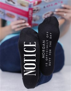 gifts: Personalised Off Duty Socks!