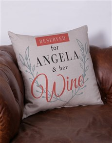 gifts: Personalised Reserved For Her Scatter Cushion!