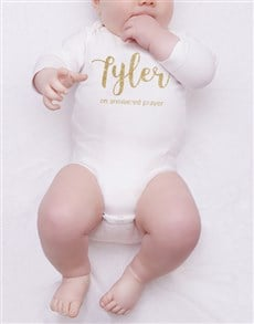 gifts: Personalised Glitter Name Onesie!