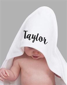 gifts: Personalised Name Hooded Towel!
