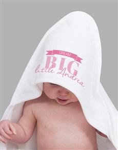 gifts: Personalised Dream Big Girl Hooded Towel!