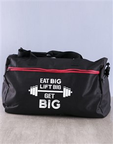 gifts: Personalised Get Big Gym Bag!