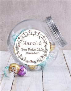 gifts: Personalised Sweet Life Candy Jar!