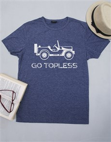 gifts: Personalised Go Topless Mens Shirt!