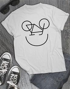 gifts: Personalised Smiling Bike Mens Shirt!