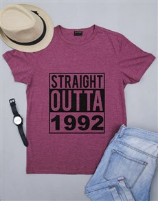 gifts: Personalised Straight Outta Mens Shirt!