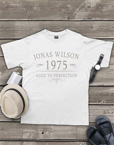 gifts: Personalised  Aged To Perfection Mens Shirt!