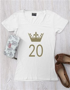 gifts: Personalised Crown Ladies Birthday Shirt!