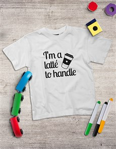 gifts: Personalised  Latte To Handle Kids Shirt!