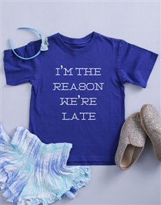 gifts: Personalised I'm The Reason Kids Shirt!