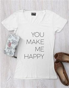 gifts: Personalised Happy Ladies Shirt!