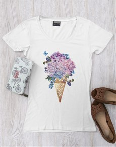 gifts: Personalised Floral Cone Ladies Shirt!