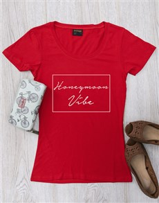 gifts: Personalised Honeymoon Vibes Ladies Shirt!