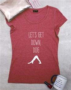 gifts: Personalised Down Dog Ladies Shirt!