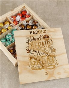 gifts: Personalised Be Great Lindt Box!
