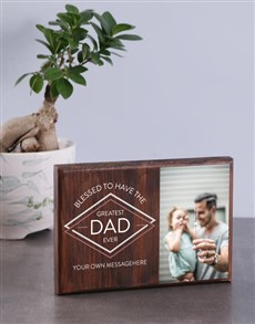 gifts: Personalised Greates Dad Wooden Photo Block!