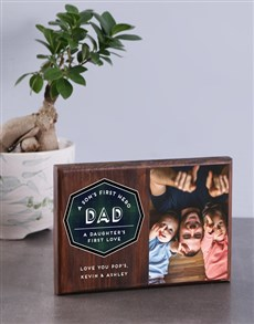 gifts: Personalised Dad Wooden Photo Block!