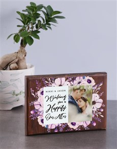 gifts: Personalised Ever After Wooden Photo Block!