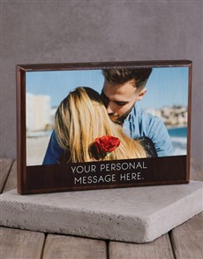 gifts: Personalised Printed Photo Frame with Message!