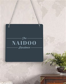 gifts: Personalised Residence Metal Sign !