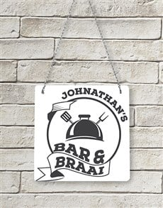 gifts: Personalised Bar & Braai Metal Sign !
