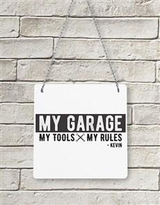 gifts: Personalised My Garage Metal Sign!