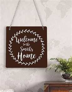 gifts: Personalised Welcome Home Metal Sign!