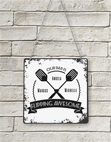 gifts: Personalised Flipping Awesome Metal Sign!
