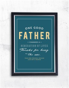 gifts: Personalised Good Father Framed Wall Art!