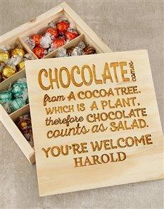 gifts: Personalised Chocoholic Treasure Box!
