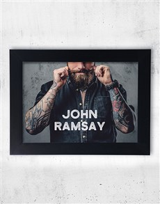 gifts: Personalised Retro Mustache Framed Wall Art!