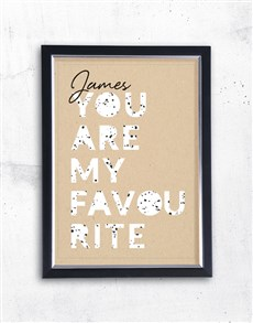 gifts: Personalised Favourite Framed Wall Art!