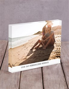 gifts: Personalised Message Acrylic Block!