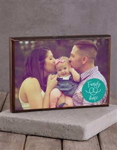 gifts: Personalised Family Time Wooden Block!