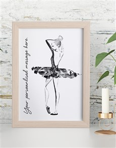 gifts: Personalised Dance Framed Wall Art!