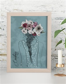 gifts: Personalised Flower Crown Framed Wall Art!