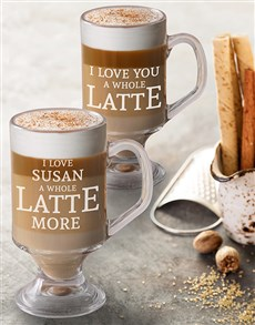 gifts: Personalised Love Latte Glass!