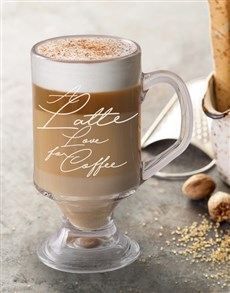 gifts: Personalised Latte Coffee Glass!