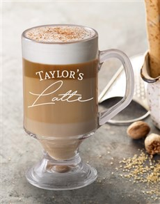 gifts: Personalised Latte Glass!