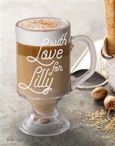 gifts: Personalised With Latte Love Glass!