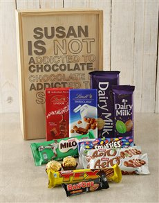 gifts: Personalised Addicted Chocolate Crate!